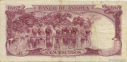 100 Escudos ANGOLA  1962 P.094 TTB