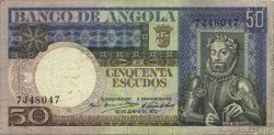 50 Escudos ANGOLA  1973 P.105a TTB
