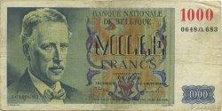 1000 Francs BELGIQUE  1950 P.131a TB à TTB