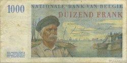 1000 Francs BELGIQUE  1953 P.131a TTB