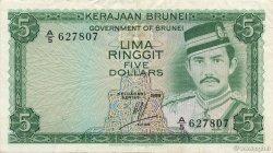 5 Ringgit - 5 Dollars BRUNEI  1986 P.07b TTB+