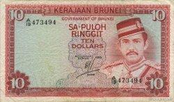 10 Ringgit - 10 Dollars BRUNEI  1986 P.08b TTB