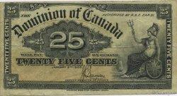 25 Cents CANADA  1900 P.009c TTB