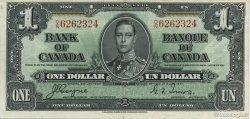 1 Dollar CANADA  1937 P.058e SUP