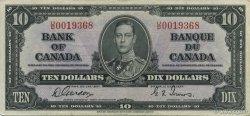 10 Dollars CANADA  1937 P.061b TTB+