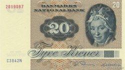 20 Kroner DANEMARK  1984 P.049d NEUF