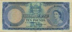 10 Pounds FIDJI  1959 P.055b pr.TTB