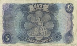 5 Pounds ANGLETERRE  1966 P.375b TTB