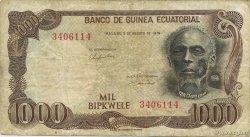 1000 Bipkwele GUINÉE ÉQUATORIALE  1979 P.16 pr.TTB