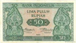 50 Rupiah INDONÉSIE  1952 P.045 TTB