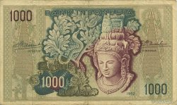 1000 Rupiah INDONÉSIE  1952 P.048 TTB