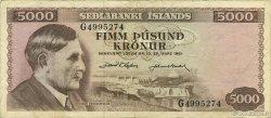 5000 Kronur ISLANDE  1961 P.47a TTB