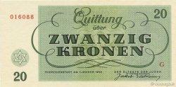 20 Kronen ISRAËL Terezin 1943 WW II.705 NEUF