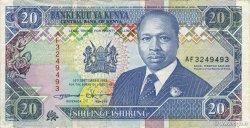 20 Shillings KENYA  1993 P.31a TTB+