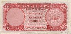 1/4 Pound LIBYE  1963 P.23a TTB+