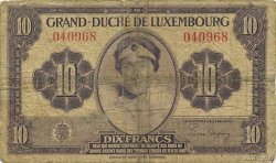 10 Francs LUXEMBOURG  1944 P.44a B