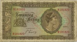 20 Francs LUXEMBOURG  1943 P.42a TB