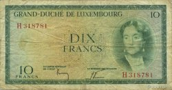 10 Francs LUXEMBOURG  1954 P.48a TB+