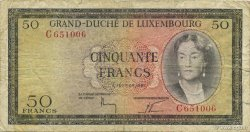 50 Francs LUXEMBOURG  1961 P.51a pr.TB