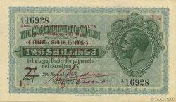 1 Shilling sur 2 Shillings MALTE  1940 P.15 pr.NEUF