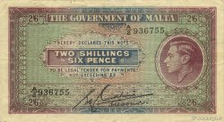 2 Shillings 6 Pence MALTE  1940 P.18 TTB