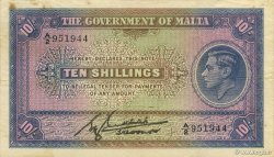 10 Shillings MALTE  1940 P.19 TTB