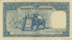 10 Rupees BIRMANIE  1953 P.36 SPL