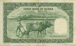 100 Rupees BIRMANIE  1953 P.45 pr.SUP