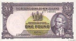 1 Pound NOUVELLE-ZÉLANDE  1967 P.159d TTB+ à SUP