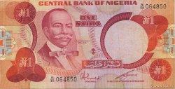 1 Naira NIGERIA  1980 P.19c TTB