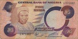 5 Naira NIGERIA  1980 P.20c TB+