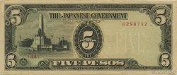 5 Pesos PHILIPPINES  1943 P.110a SPL