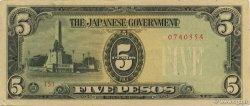 5 Pesos PHILIPPINES  1943 P.110av SUP