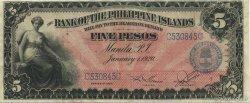 5 Pesos PHILIPPINES  1920 P.013 SUP