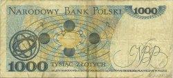 1000 Zlotych POLOGNE  1982 P.146c TB