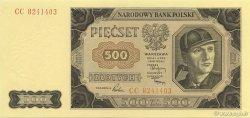 500 Zlotych POLOGNE  1949 P.140 NEUF