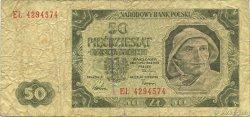 50 Zlotych POLOGNE  1949 P.138 B