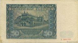 50 Zlotych POLOGNE  1941 P.102 TTB