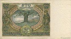 100 Zlotych POLOGNE  1934 P.075 TTB+