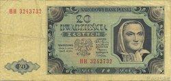 20 Zlotych POLOGNE  1948 P.137 TTB