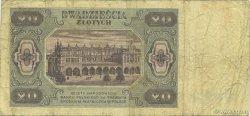 20 Zlotych POLOGNE  1948 P.137 B