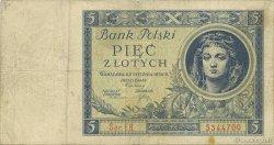 5 Zlotych POLOGNE  1930 P.072 TB à TTB