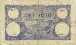 20 Lei ROUMANIE  1919 P.020 TB