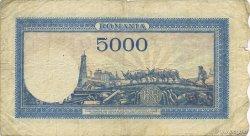 5000 Lei ROUMANIE  1945 P.055v TB