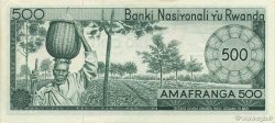 500 Francs RWANDA  1971 P.09b SPL