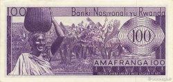 100 Francs RWANDA  1964 P.08a NEUF