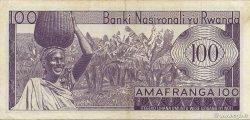 100 Francs RWANDA  1974 P.08c TTB+