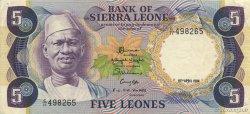 5 Leones SIERRA LEONE  1984 P.07e TTB à SUP