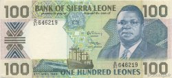 100 Leones SIERRA LEONE  1989 P.18bvar SUP