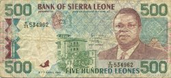 500 Leones SIERRA LEONE  1991 P.19 TB+